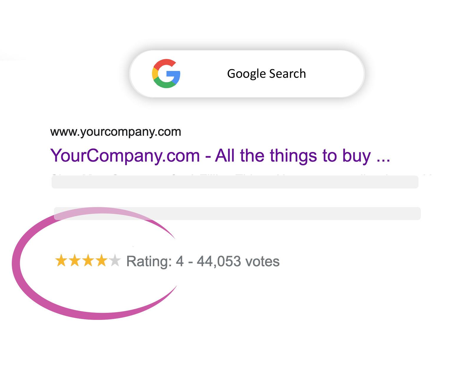google shopping star ratings